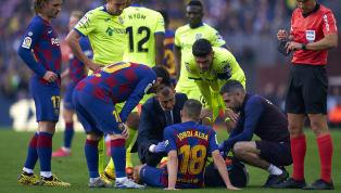 DerFC Barcelonamuss vor drei wichtigen Spielen einen schweren Ausfall verkraften. Am Samstag hat sich Linksverteidiger Jordi Alba beim 2:1-Liga-Sieg gegen...