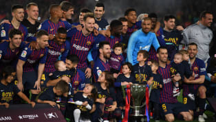 gain ​Barcelona claimed their eighth La Liga title in 11 years, as Lionel Messi came off the bench to sink visitors Levante in a slightly stressful 1-0 victory...