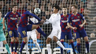 ​An image of Raphael Varane's painful looking thigh injury has emerged online following Real Madrid's 0-0 draw with Barcelona at the Camp Nou on Wednesday...