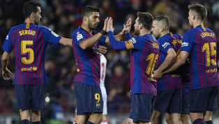 Goal Barcelona held on to their five point lead at the top of the La Liga table with to a 3-0 victory at home to Eibar, as Lionel Messi scored his 400th goal...