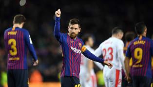 Mega bintang BarcelonaLionel Messimenjadi pemain pertama yang mencapai 400 gol di La Liga saat ia mencetak gol dalam kemenangan 3-0 timnya atas Eibar di...