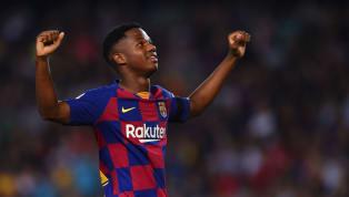 Tài năng trẻ 16 tuổi Ansu Fati đang được hai liên đoàn bóng đá là Tây Ban Nha và Bồ Đào Nha tranh giành sau khi thể hiện được trình độ của mình trong màu áo...