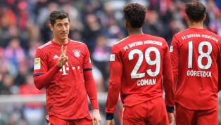 8/19 Striker Bayern Munchen, Robert Lewandowski, nampak makin tidak terkejar kala satu golnya ke gawang Hannover membuat dirinya kini terpaut empat gol dari...