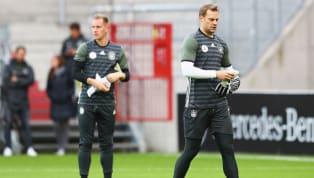 Presiden Bayern Munchen, Uli Hoeness, turut memanaskan perebutan posisi kiper nomor satu Timnas Jerman antara Manuel Neuer (Bayern Munchen) dan Marc-Andre...