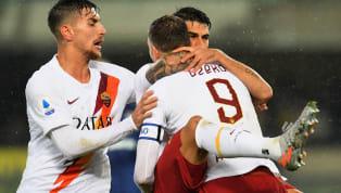 LaRomaespugna il campo del Verona sotto un vero e proprio diluvio. Il 3-1 giallorosso porta le firme di Kluivert, Perotti (su rigore) e Mkhitaryan. Primo...