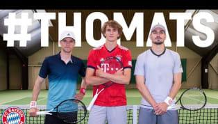 In ihrer neuesten Challenge gegeneinander suchen Thomas Müller und Mats Hummels den Tennisplatz auf. Dort treffen die beidenBayern-Stars auf das deutsche...