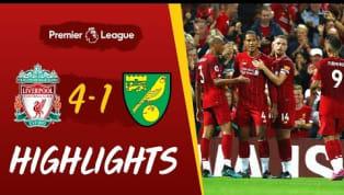 Der FC Liverpool setzte sich am ersten Spieltag der neuen Premier-League-Saison souverän gegen Aufsteiger Norwich City mit 4:1 durch. Auf Youtube...