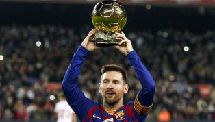 After being presented the prestigious Ballon d'Or gong by his sons before kick-off at the Camp Nou,Lionel Messi celebratedthe honour with a...