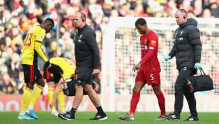 orst Jurgen Klopp hasconfirmed that midfielder Georginio Wijnaldum suffered a muscle injury during Liverpool's 2-0 victory over Watford on Saturday...