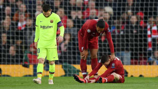 tion ​Liverpool full back Andrew Robertson will undergo a scan on Wednesday to asses the extent of a calf injury that he picked up during the club's 4-0 win...