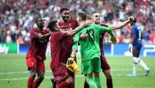 Tammy Abraham bị thủ môn tân binh củaLiverpoolAdrian cản phá quả penalty quyết định khiếnChelseathua trong trận tranh Siêu cup Châu Âu rạng sáng 15.8...