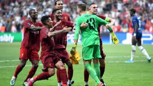 UEFA Süper Kupa'da nefesleri kesen randevuda Liverpool, Chelsea'yi normal süresi 1-1 ve uzatma bölümü 2-2 sona eren karşılaşmada seri penaltı atışları...