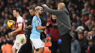 Manchester City manager Pep Guardiola praised Sergio Aguero for his hat-trick following his side's 3-1 win over Arsenal on Sunday afternoon. The Citizens...