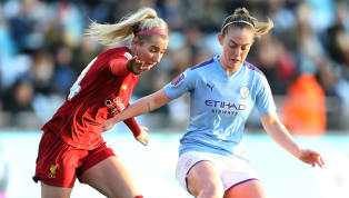 Reds Manchester City women survived a second half onslaught from bottom of the table Liverpool to hang on for a 1-0 win in the WSL at the Academy Stadium on...