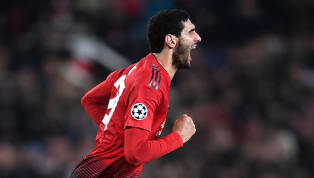 nner Manchester United scored their first home goal in the Champions League this season as Marouane Fellaini scored a dramatic late winner to send the Red...