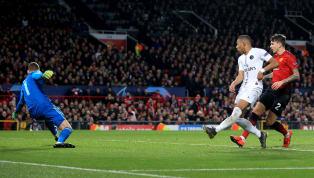 Kimpembe y Mbappe anotan al 53' y al 59' para poner al PSG 2 - 0 sobre el Manchester United en el partido de ida de la UEFA Champions League   