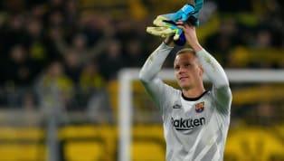 Auteur d'une prestation incroyable contre Dortmund, le portier allemand a clairement sauvé le Barça, allant jusqu'à arrêter un penalty. Avec une petite...