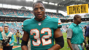 Kenyan Drake Doesn't Get Full Fantasy Points on Dolphins Last-Second Touchdown