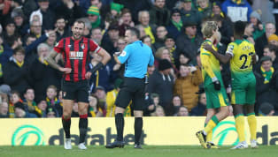 ​​Bournemouth captain Steve Cook was sent off during their 1-0 loss to ​Norwich City after pulling off an incredible save that would give most goalkeepers a...