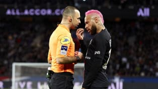 ​Paris Saint-Germain forward Neymar was booked during a French league match on the weekend after a heated conversation with the referee, following an...