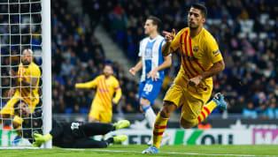 Penyerang Barcelona, Luis Suarez, kecewa dengan hasil imbang 2-2 melawan Espanyol di Derbi Barcelona di pekan 19 La Liga, Minggu (05/01) dini hari WIB. El...