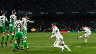 Con un gol de falta en el 88' frente al Betis consiguió Dani Ceballos darle la vuelta al marcador en el encuentro de liga en el Villamarín. El golpeo a balón...