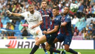 İspanya La Liga'nın 4. hafta mücadelesinde Real Madrid, kendi evinde Levante'yi 3-2 mağlup etti. Madrid ekibine galibiyeti getiren golleri; 25 ve 31....