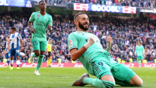 mmit Goals from Raphael Varane and Karim Benzema either side of half time saw Real Madrid overcome Espanyol at the Bernabeu,stretching their unbeaten run to...