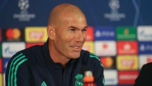 Zinedine Zidane comparece en la rueda de prensa al partido del Liga entre elReal Madridy el Real Betis que se disputará mañana sábado a las 21:00 en el...