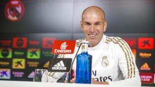 Zinedine Zidane comparece en la rueda de prensa previa al partido de Copa del Rey entre el Real Zaragoza y elReal Madridque se disputará este miércoles en...