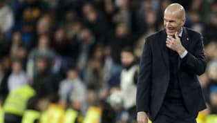 Real Madridmanager Zinedine Zidane escaped injury after being accidentally hit in the face by the boot of opposing defender Joseph Aidoo during his side's...