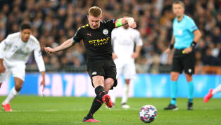 Manchester City matchwinner Kevin De Bruyne was on penalty duty for only the fourth time in his career as he converted from 12 yards against Real Madrid in...
