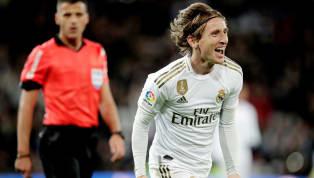 Real Madrid hạ Sociedad trong trận cầu vòng 13 La Liga rạng sáng 24.11 với tỉ số 3-1.  Nụ cười của Luka Modric sau ghi lập công ấn định tỉ số 3-1 cho trận...