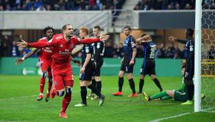 Pierre-Michel Lasogga schießt denHSVins Halbfinale des DFB-Pokals. Mit einem Doppelpack des Torjägersnach dem Seitenwechsel brachte er die Rothosen gegen...