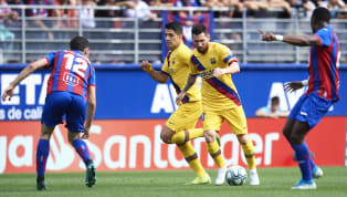 Barcelona got the better of Eibar at the Estadio Municipal de Ipurúa as goals from Antoine Griezmann, Lionel Messi and Luis Suarez saw the Catalan giants go...