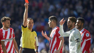​​Real Madrid captain Sergio Ramos was shown two yellow cards ​his side's loss against Girona which meant that he has now been sent off 25 times in his...