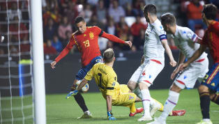 A double from Rodrigo Moreno made it six wins from six for Spain in Group F, as they moved another step closer to Euro 2020 qualification at the expense of a...