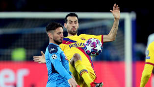 uare Napoli and Barcelona drew 1-1 in their first leg last 16 Champions League tussle atStadio San Paolo on Tuesday evening, with Dries Mertens' goal making...