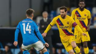 Barcelonamới đây đã bị UEFA phạt hành chính vì ra sân muộn ở trận đấu lượt đi vòng 1/8Champions Leaguegặp Napoli, cả HLV Quique Setien cũng bị cảnh cáo....
