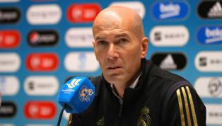 Zinedine Zidane comparece en la rueda de prensa previa al partido de Liga entre el Levante y elReal Madridque disputará mañana sábado a las 21:00 en el...