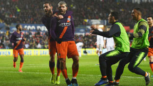 ller Manchester City came from 2-0 down to progress to the FA Cup semi-finals, as they beat Swansea City 3-2 on Saturday evening. Swansea took a shock lead...