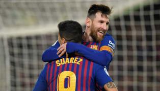 Gol tunggal strikerBarcelona, Lionel Messi ke gawang Real Valladolid menjadikan sang pemain tetap berada di posisi puncak daftar pencetak gol terbanyakLa...