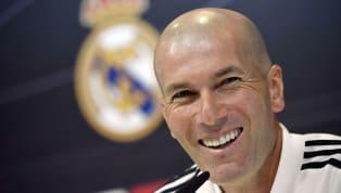 Zinedine Zidane comparece en la rueda de prensa previa al partido de Liga entre elReal Madridy el Levante que se disputará mañana a las 13:00 en el...