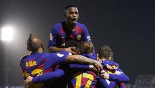 Barcelonaberhasil mengamankan satu tempat di babak 16 besar Copa del Rey saat mengatasi perlawanan tim Segunda Division B, Ibiza diEstadi Municipal de Can...