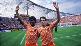 ​Goodness gracious me, would you look at that kit.  The Netherlands' 1988 Euros home strip has gained quasi-messianic status among football fashion...
