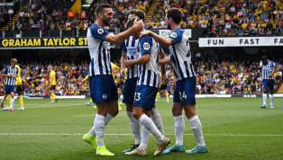 nets Life under Graham Potter began in the most spectacular fashion for Brighton, as they thrashed Watford by three goals to nil at Vicarage Road to kick off...