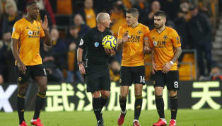 ​​Wolves captain Conor Coady and referee Mike Dean were involved in a heated argument during the half-time interval of Wolves' draw with ​Leicester City....