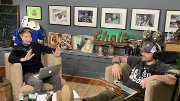 Chris Long & co-host Macon Gunter deep in debate over weekly market movement.