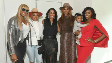 ATLANTA, GEORGIA - OCTOBER 10:   NeNe Leakes, Rasheeda Frost, Tanya Sam, Cynthia Bailey, Pilar Jhena, and Porsha Williams attend A3C Festival & Conference at AmericasMart on October 10, 2019 in Atlanta, Georgia. (Photo by Paras Griffin/Getty Images)