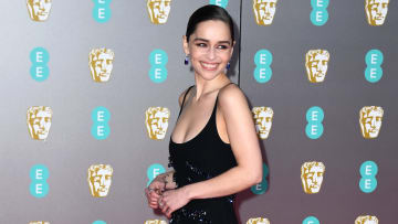 Emilia Clarke from 'Game of Thrones' on the BAFTA Awards red carpet